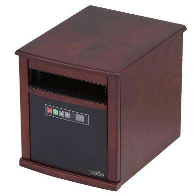 Colby 1500-Watt 6-Element Infrared Quartz Electric Portable Heater with Remote Control - Cherry