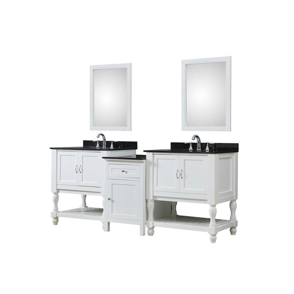Direct Vanity Sink Hybrid Bath Makeup Vanity White Granite Vanity Top