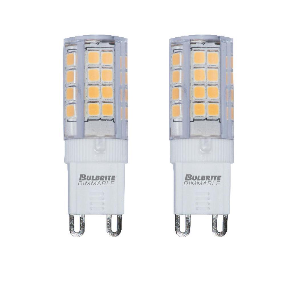 30-Watt Equivalent T4 Non-Dimmable Bi-Pin (G9) LED Light Bulb Soft White (2-Pack)