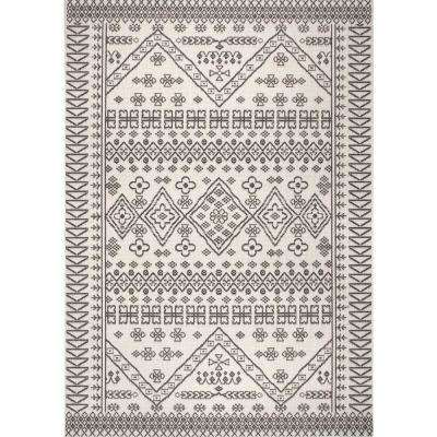 Kandace Outdoor Ivory 8 ft. x 6 ft. 13 in. Area Rug
