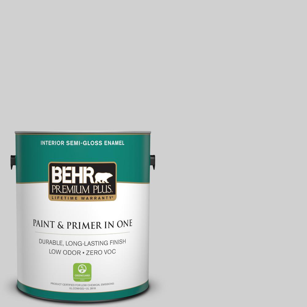 BEHR Premium Plus 1-gal. #N520-1 White Metal Semi-Gloss Enamel Interior Paint