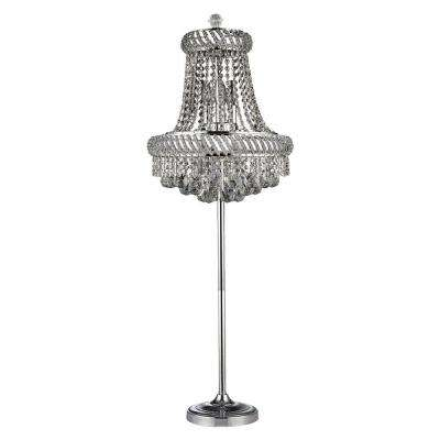 Thaleah 62 in. Chrome Indoor Floor Lamp with Foot Switch
