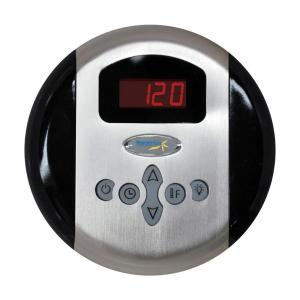 SteamSpa Programmable Steam Bath Generator Control Panel with Presets in Chrome by SteamSpa