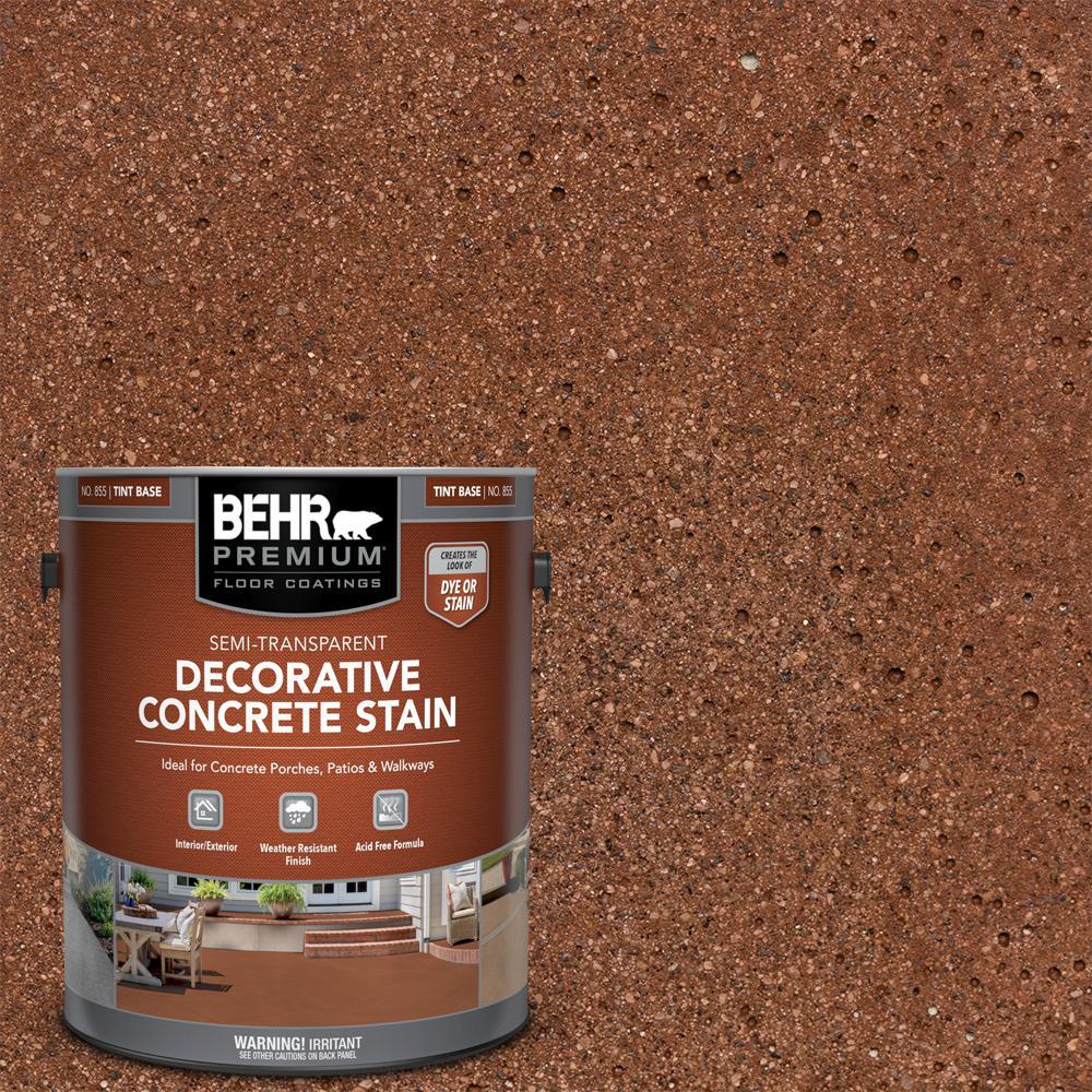 1 gal. #DCS-802 Cedar Blush Semi-Transparent Flat Interior/Exterior Decorative Concrete Stain