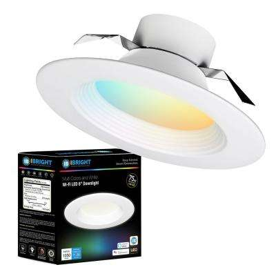 6 in. 2700K-6500K Tunable Smart WiFi Dimmable Recessed Integrated LED Ceiling Light for Shallow Ceiling Kit