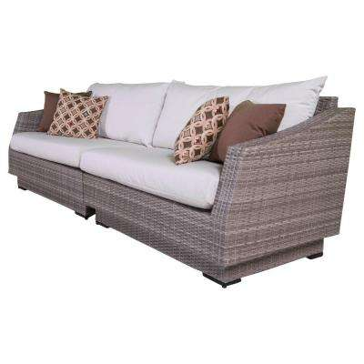 Cannes 2-Piece Patio Sofa with Moroccan Cream Cushions