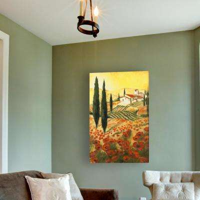 36 in. x 24 in. Warm Tuscan Sunrise Stretched Canvas Painted Wall Art
