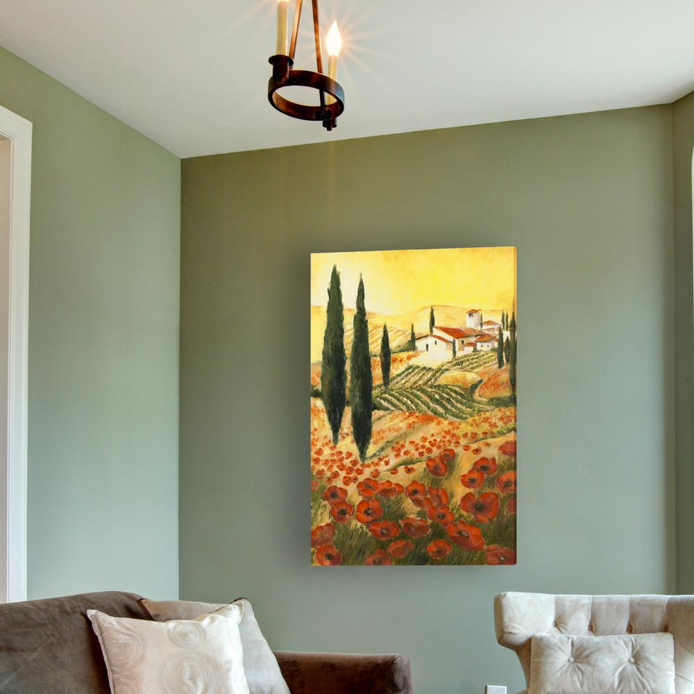 Decor therapy 36 in x 24 in warm tuscan sunrise for Decor therapy