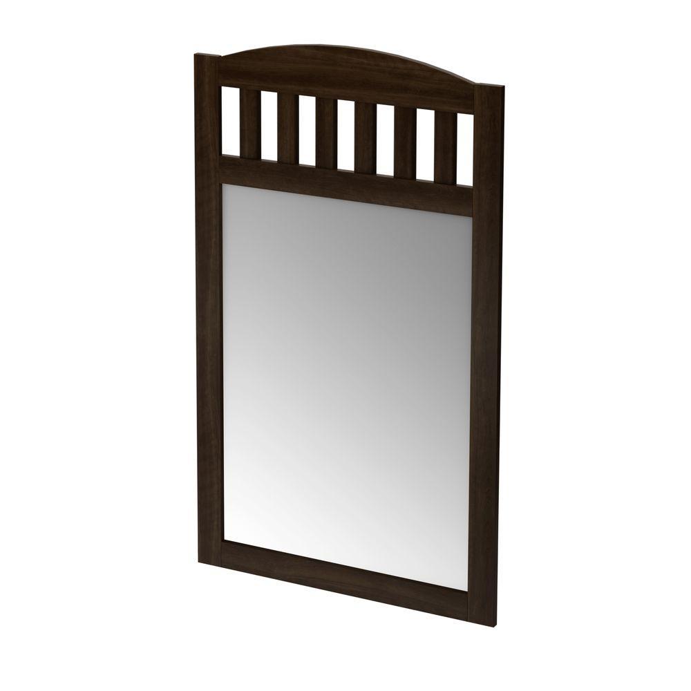 South Shore 46 in. x 27 in. Popular Mocha Wall Framed Mirror