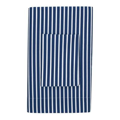 Aiden Stripe Blue Tide 200-Thread Count Cotton Percale Standard Pillowcase (Set of 2)