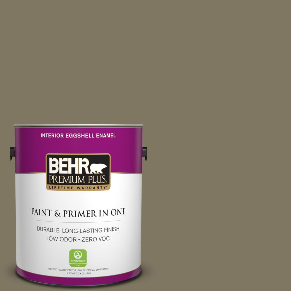 BEHR Premium Plus 1-gal. #760D-6 Spanish Galleon Zero VOC Eggshell Enamel Interior Paint