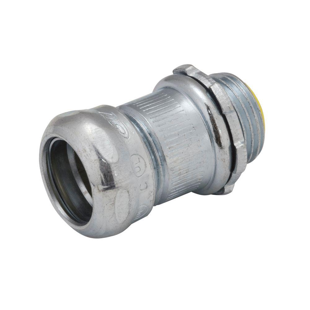 Raco in emt insulated steel compression connector
