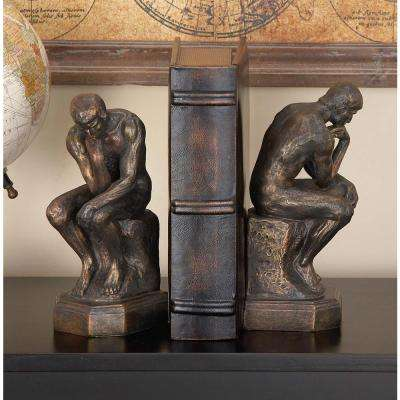 9 in. x 3 in. Polystone The Thinker Bookend