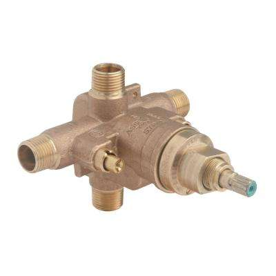 Temptrol Brass Tub and Shower Valve with Service Stops