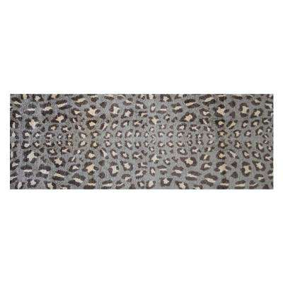 In-Home Washable/Non-Slip Cheetah 2 ft. 3 in. x 6 ft. 3 in. Area Rug & Mat