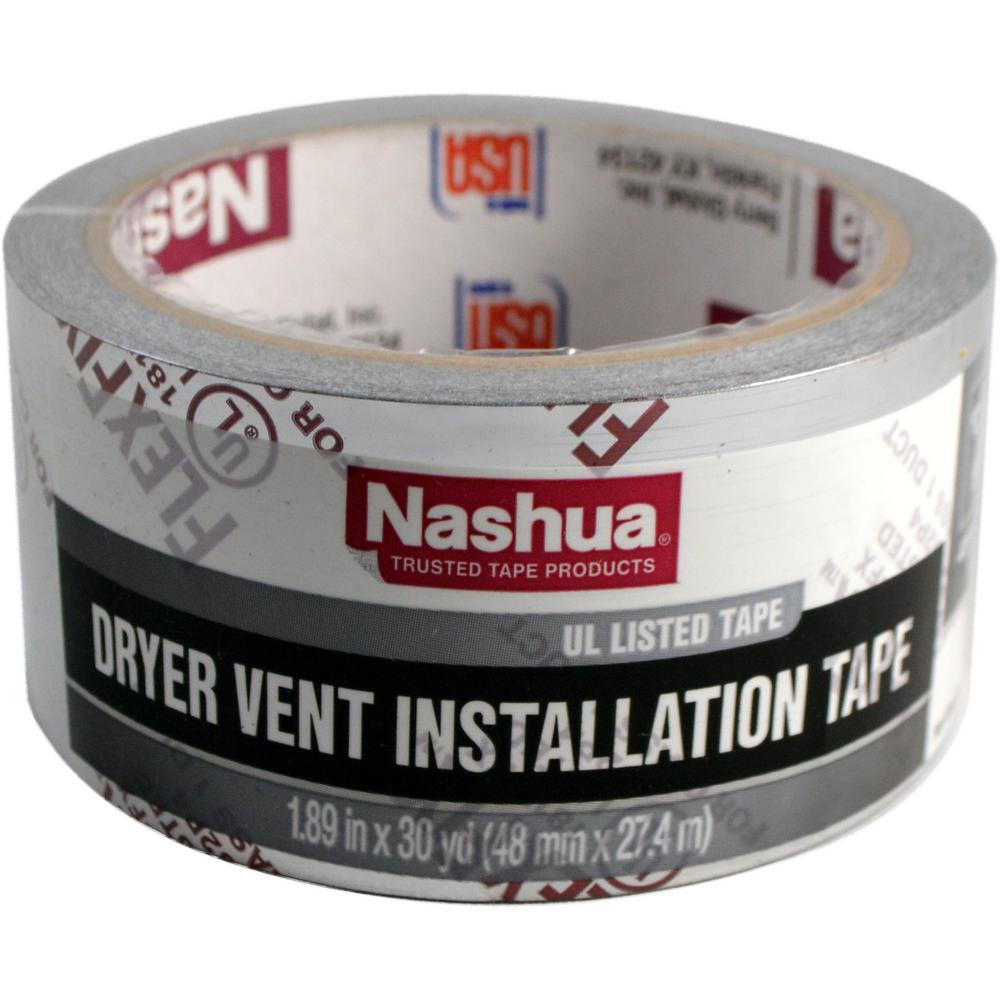 Nashua Tape 1 89 In X 30 Yd Dryer Vent Installation Tape