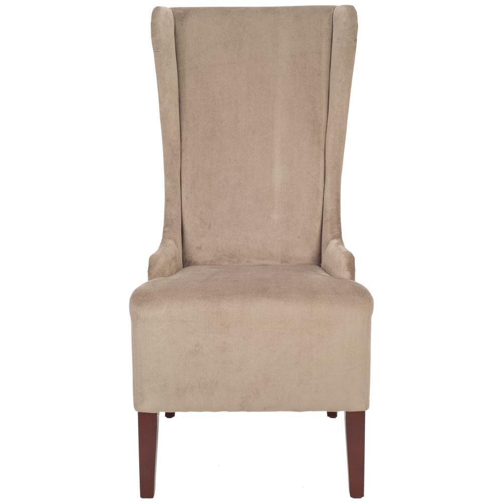 Marvelous Safavieh Bacall Mushroom Taupe Cotton Dining Chair