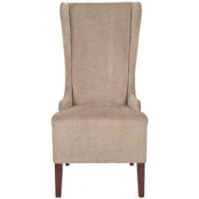 Bacall Mushroom Taupe Cotton Dining Chair