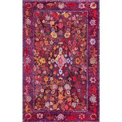 Back Pad Purple Tufted Area Rugs