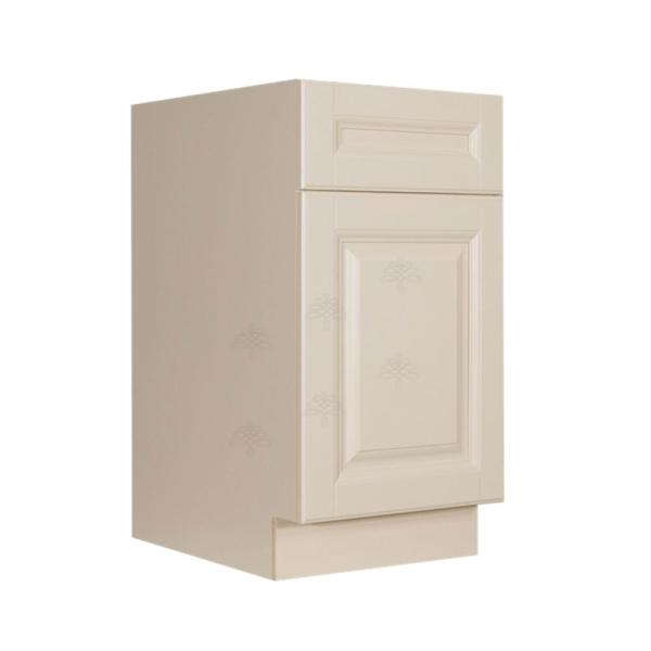 Lifeart Cabinetry Oxford Creamy White Plywood Raised Panel Stock Assembled Waste Can Kitchen Cabinet 18 In W X 34 5 In H X 24 In D Ao Bwbk18 2 The Home Depot
