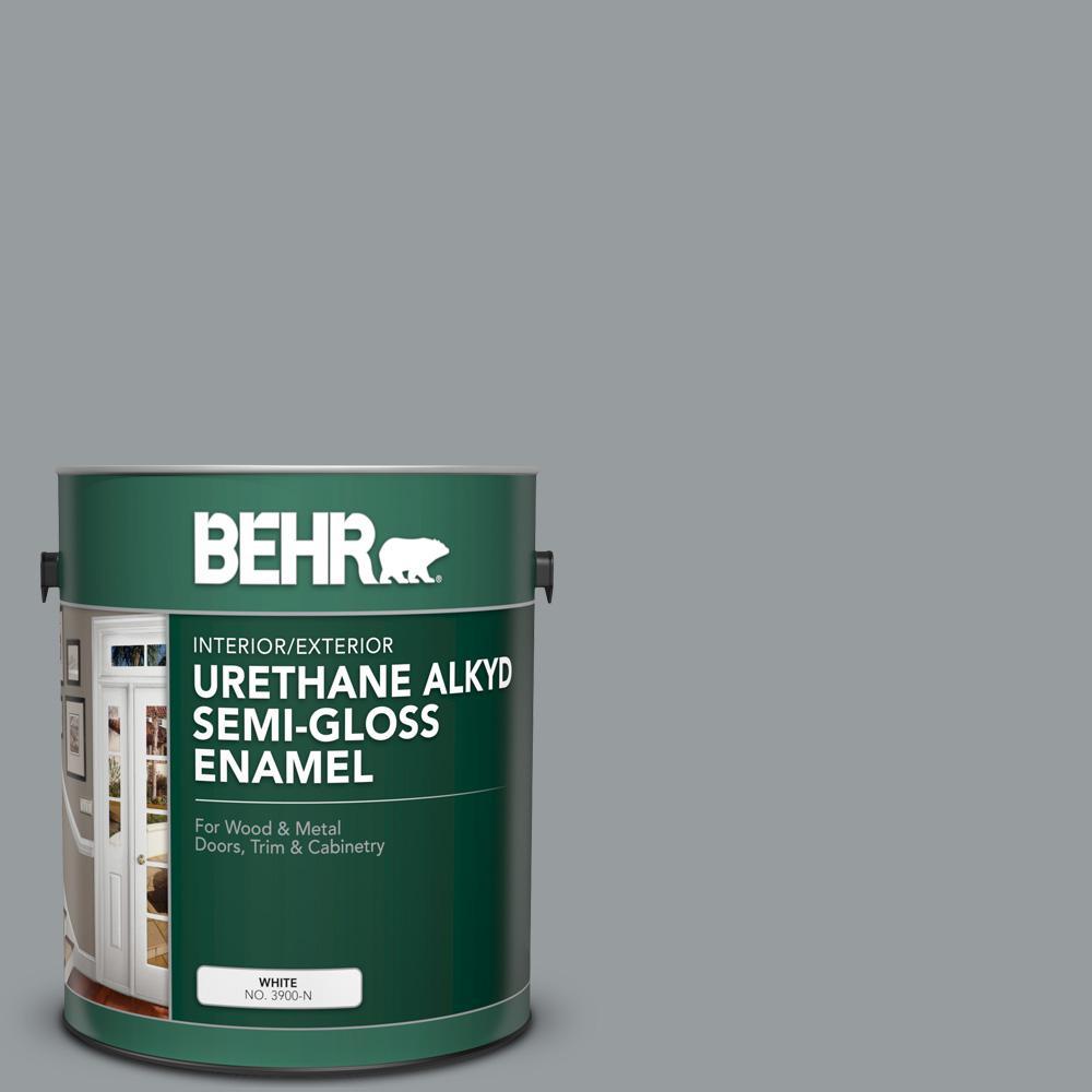 1 gal. #AE-51 Coast Guard Gray Urethane Alkyd Semi-Gloss Enamel Interior/Exterior Paint