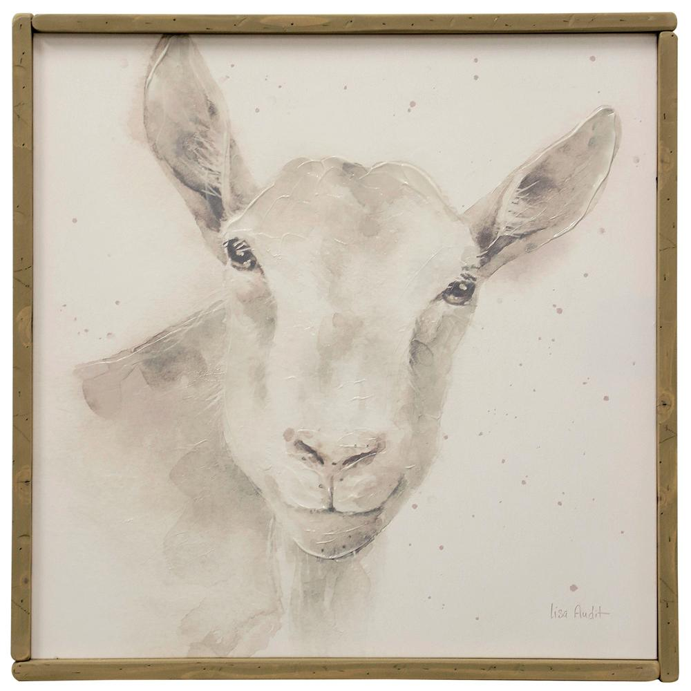 StyleCraft Hand-Painted Lamb Farm Animal Multicolored Canvas Wall Art was $102.99 now $39.92 (61.0% off)