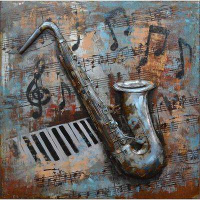 Music Notes Metal Wall Decor