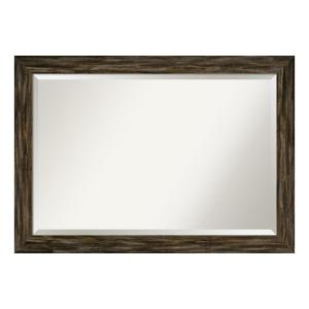 Fencepost Narrow Brown Bathroom Vanity Mirror