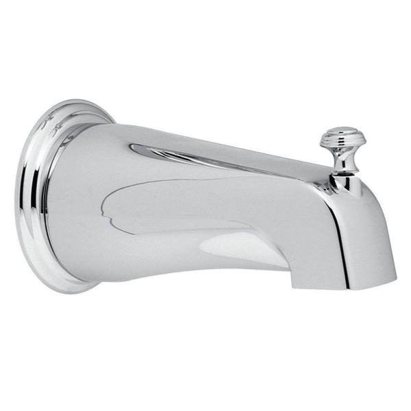 Monticello Diverter Tub Spout with Slip Fit Connection in Chrome