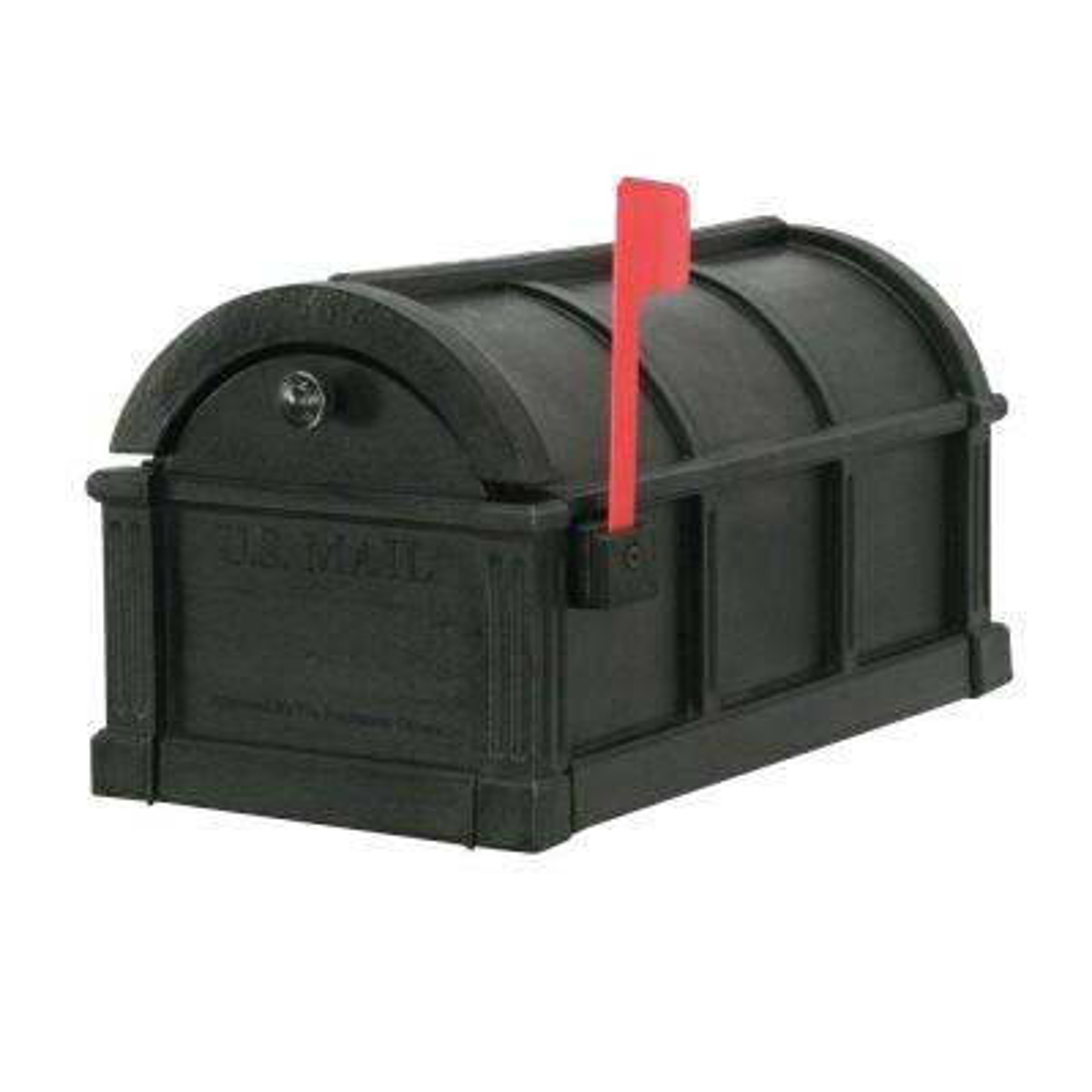 Sunset Pointe Plastic Mailbox in Black