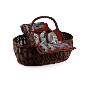 Picnic Time Harmony Collection Assorted Colors Gondola Willow Wood Picnic Basket by Picnic Time