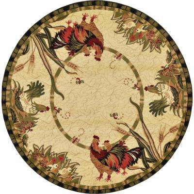 Country Cream 8 ft. x 8 ft. Round Area Rug