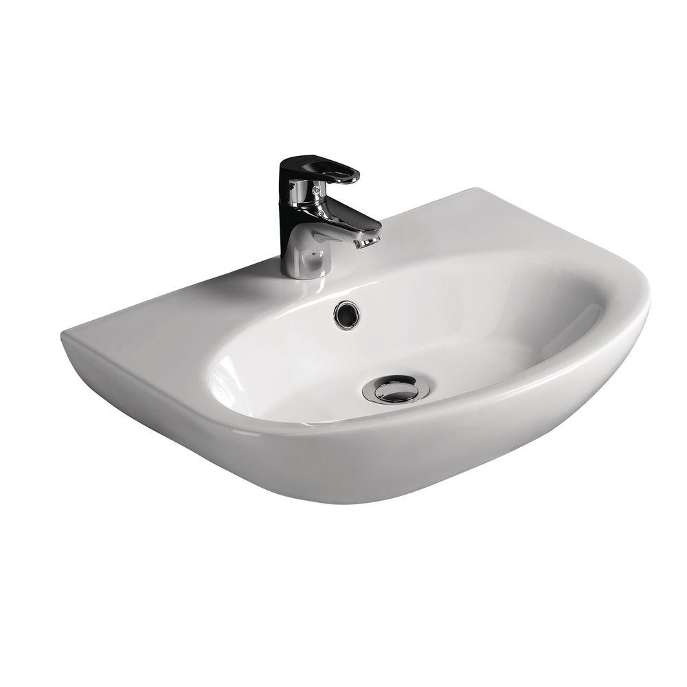 Infinity Sink: Barclay Products Infinity Wall-Hung Bathroom Sink In White