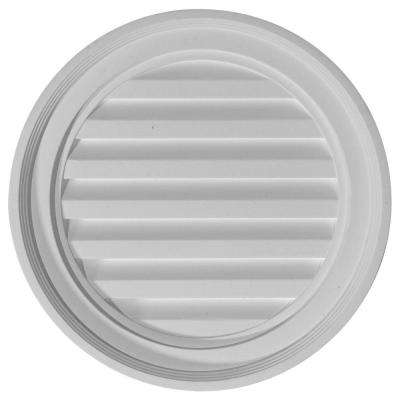 2 in. x 18 in. x 18 in. Functional Round Gable Louver Vent
