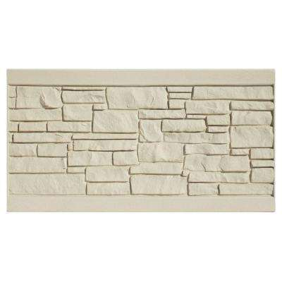 EcoStone 3 ft. H x 6 ft. W Beige Composite Fence Panel