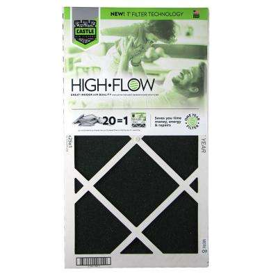 14 in. x 25 in. HVAC Air Filter FRP 8 1 year High Flow Filter