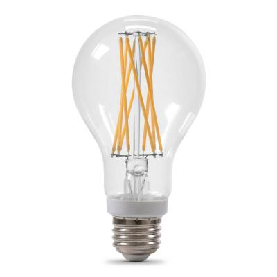 100-Watt Equivalent A21 Dimmable Filament CEC Title 20 Compliant LED 90+ CRI Clear Glass Light Bulb, Daylight (8-Pack)