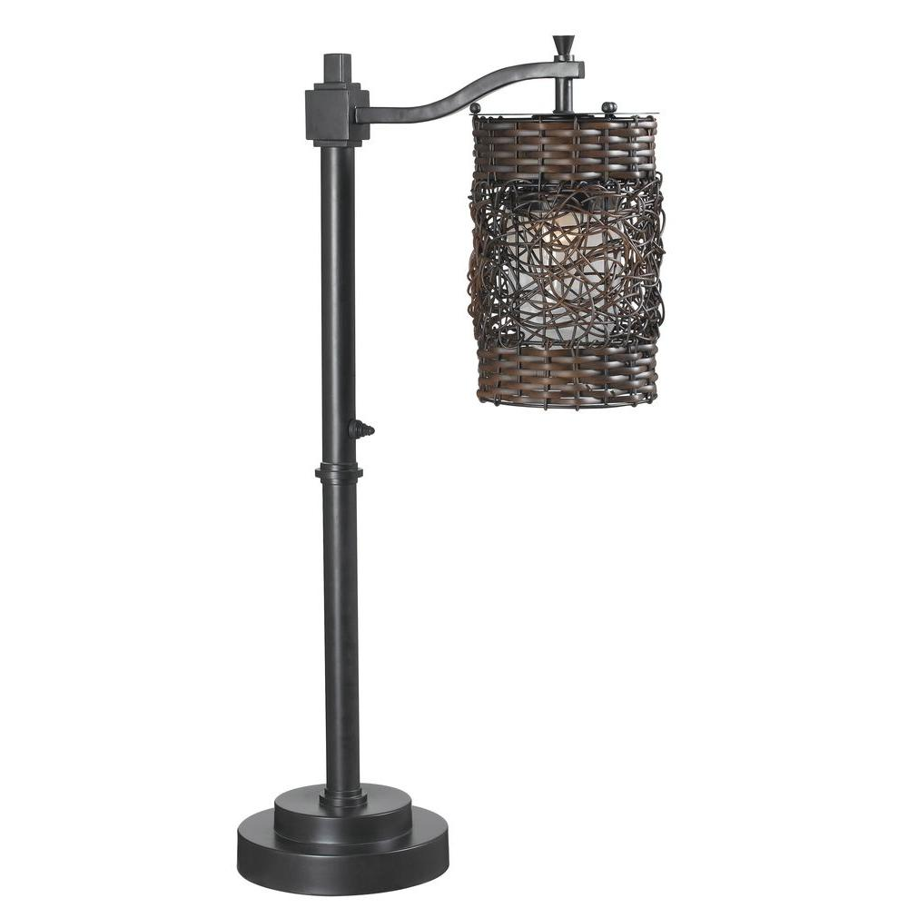 Kenroy Home Brent 30 in. Oil-Rubbed Bronze Outdoor Table Lamp
