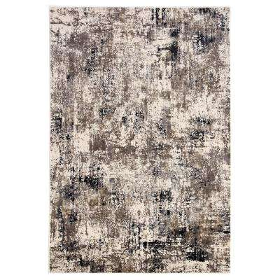Masonic White 2 ft. x 3 ft. Abstract Rectangle Area Rug