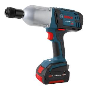 Bosch 18 Volt Lithium-Ion Cordless Electric 7/16 inch Hex High Torque Impact Wrench with (2) 4.0Ah Batteries by Bosch