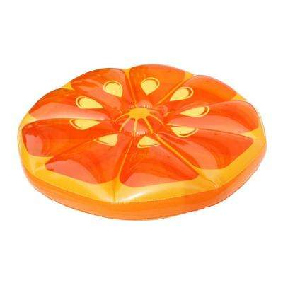 49 in. Inflatable Orange Fruit Slice Lounger Float