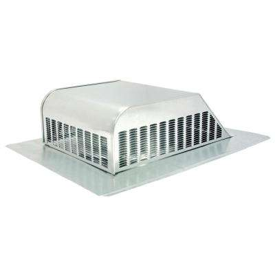 50 sq. in. NFA Galvanized Slant-Back Roof Louver Static Vent in Mill (Sold in Carton of 6 only)