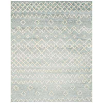 Casablanca Blue/Ivory 8 ft. x 10 ft. Area Rug