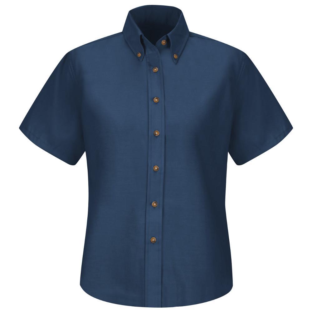 Women's Size 4 Navy Poplin Dress Shirt
