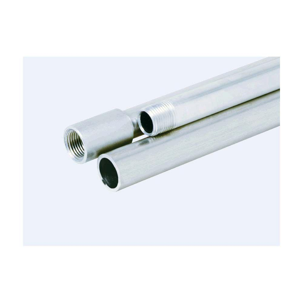 1 2 In Aluminum Rigid Conduit 732304 The Home Depot Metal Electrical Wiring Pipe View Flexible