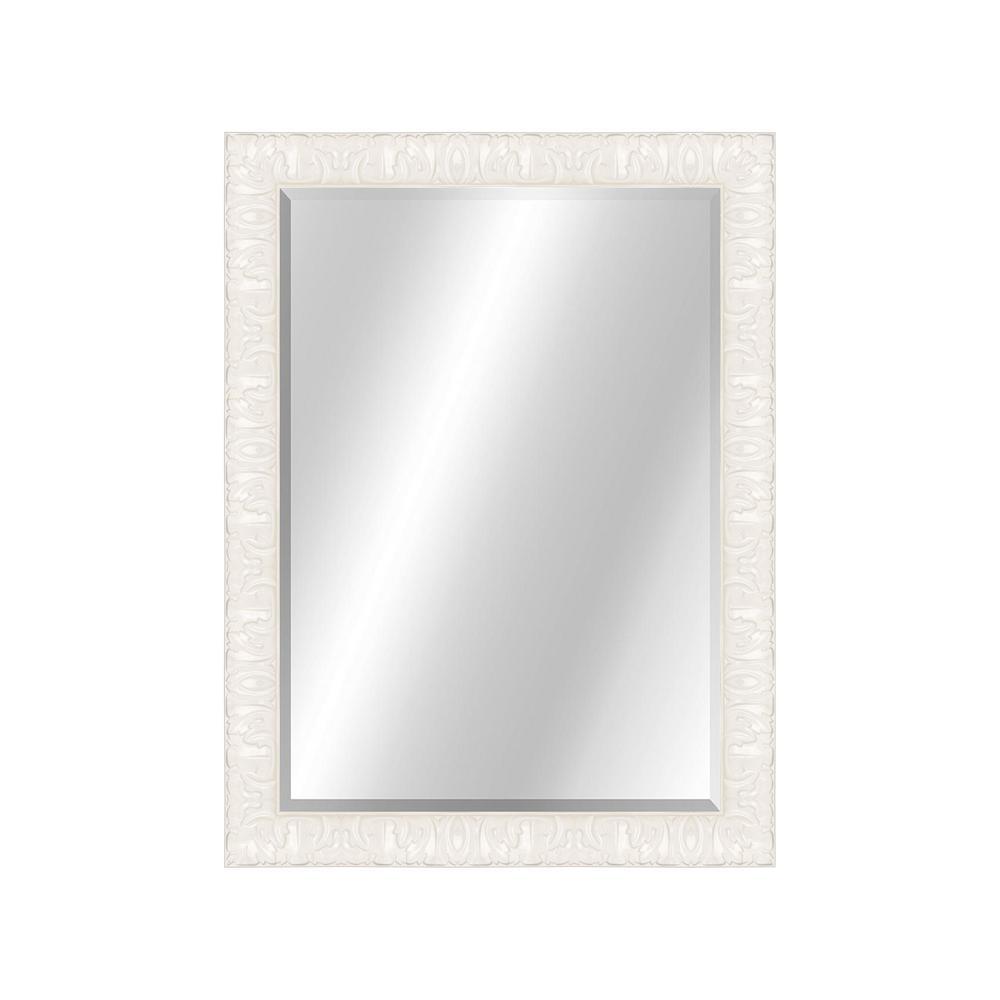 Transitional 22 x 28 Contemporary Black Framed Vanity Mirror