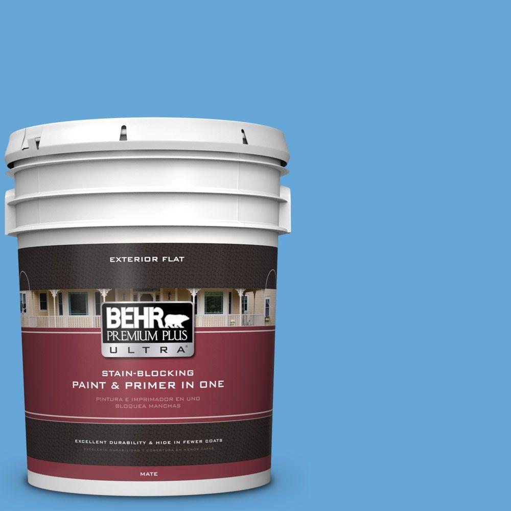 BEHR Premium Plus Ultra 5-gal. #560B-5 Ocean Tropic Flat Exterior Paint