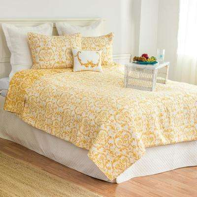 Yellow Florence King Quilt Set