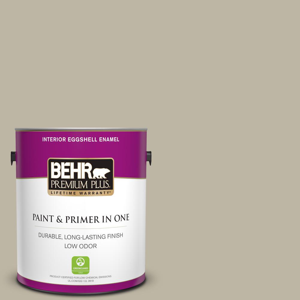 Behr Premium Plus 1 Gal 780d 4 Koala Bear Eggshell Enamel Low Odor Interior Paint And Primer In One 240001 The Home Depot