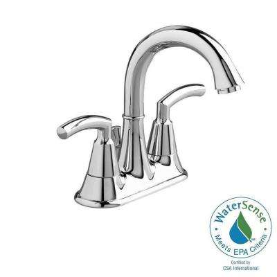 Tropic 4 in. 2-Handle High-Arc Bathroom Faucet in Polished Chrome with Speed Connect Pop-Up Drain